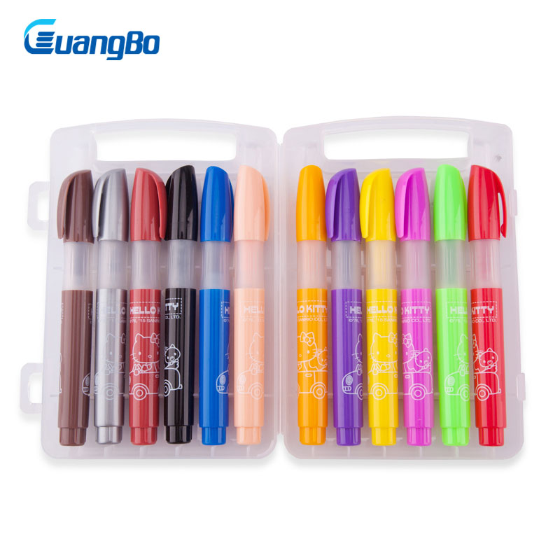GUANGBO Multifunction crayon pens children drawing painting set 12 color art marker gift for kids washable colorful pen crayon широкий guangbo gbp0619 25k 120 эту страницу классический бизнес ноутбук дневник означает случайный цвет