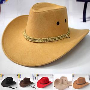 a56549a31513c Swokii Western Cowboy Hat Men Riding Cap Accessory