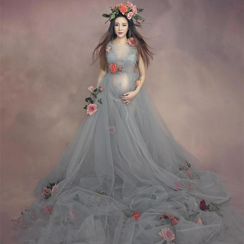 Online get cheap cute little maternity dress aliexpress fashion luxury maternity photography props tulle voile dress pregnancy women clothes set maternity maxi chiffon lace ombrellifo Image collections