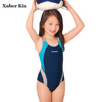 New 2017 Girls Sporting Swimsuit Children Girls Professinal Swimwear Kids Girls Summer Swim Sporting Suits G30-SW276
