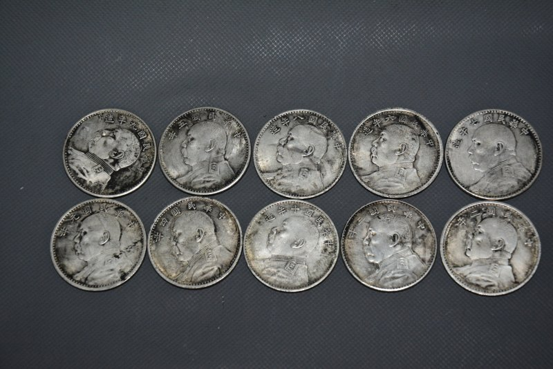 Rare old Chinese silver coin,Republic of China the first year to the decade Currency,Yuan bulk,10 piece/sets,Free shipping