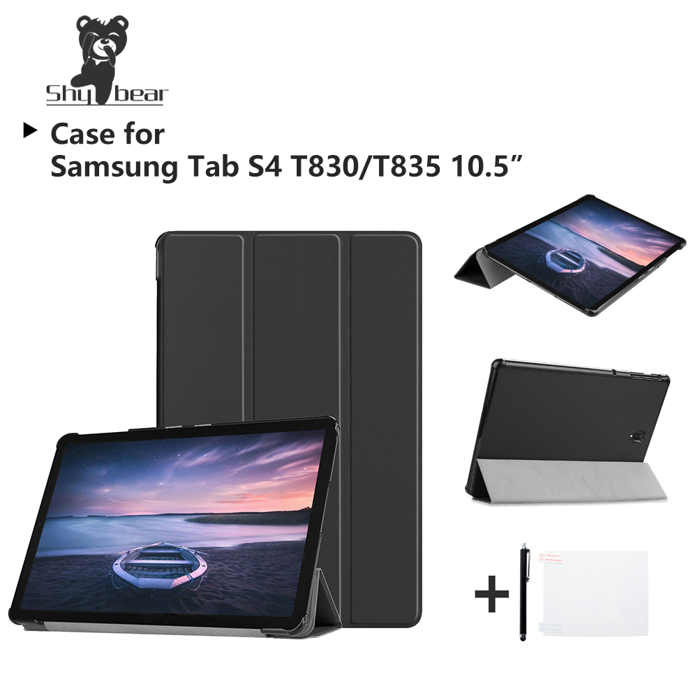 Magnetic Case for Samsung Galaxy Tab S4 10.5'' SM-T835 T830 Tab S4 T835 10.5'' 2018 Stand Protective Tablet Cover Case+gifts protective aluminum alloy abs back case for samsung galaxy s4 i9500 black