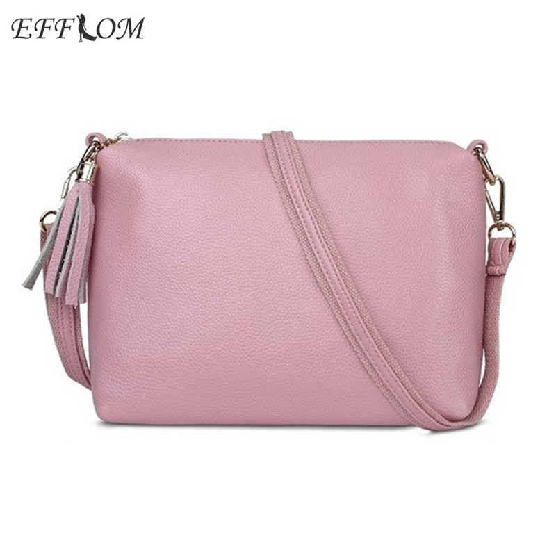 Fashion PU Leather Women Crossbody Bags Small Tassel Summer Casual Shoulder Bag For Womens Messenger Sling Bag Fringe Pink