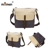 Mamen SLR Camera Bag Handbag Waterproof Canvas Cowhide Shoulder 25*30*7cm Photo Bag For iPad Computer Phone Cash Wallet 2018 NEW
