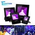 10 Вт 20 Вт 30 Вт 50 Вт УФ светодиодный прожектор черный водонепроницаемый светильник для вечеринки неоновое освещение высокая мощность Ультра...