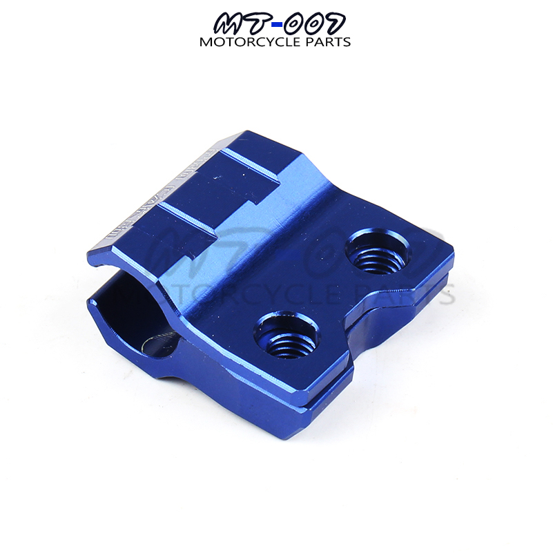 CNC Blue Brake Line Hose Clamps Holder For YZ WR 125 250 YZF WRF 250 450 MX LINE Motocross Supermoto Enduro Dirt Bike Off Road