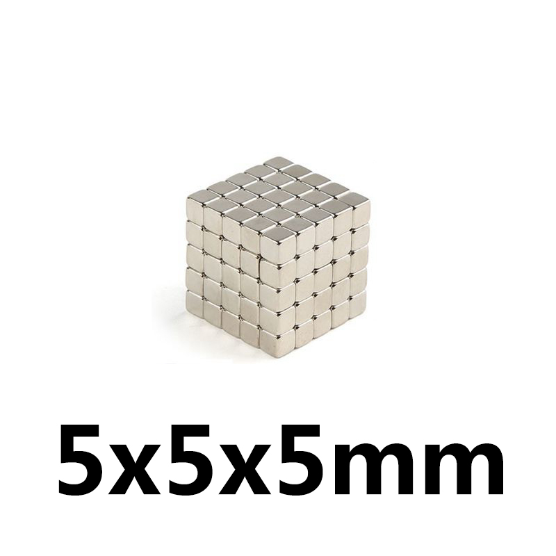 10pc <font><b>5x5x5</b></font> Strong Rare Earth Cubic Block square Rare Earth <font><b>Neodymium</b></font> <font><b>Magnets</b></font> 5x5x5mm Permanent image