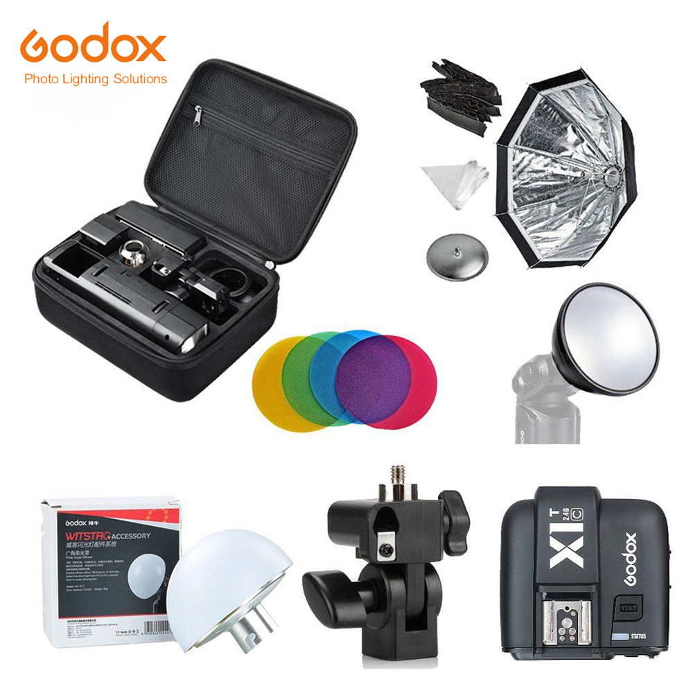 Godox 2.4 TTL HSS Due Teste AD200 Flash + X1T-C/X1T-N/X1T-S Per Canon + Softbox Riflettore Kit