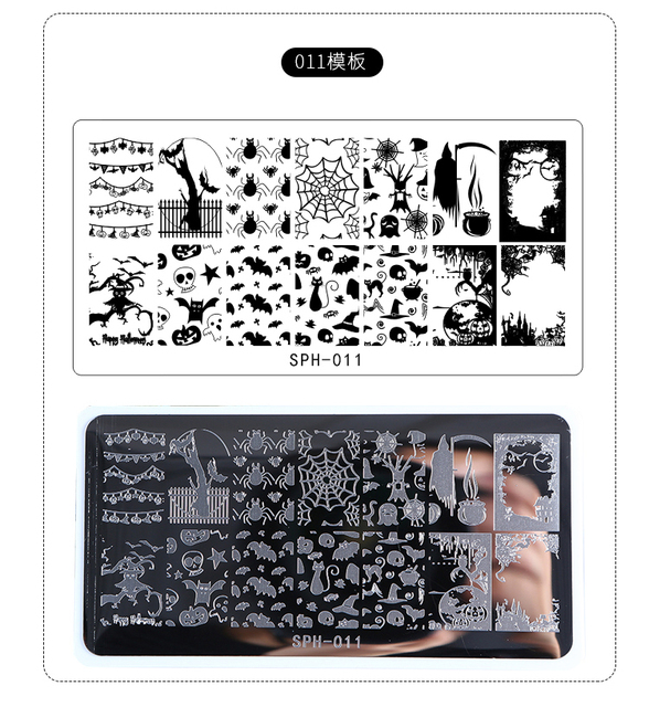 Halloween Christmas Nail Stamping Plates Nail Stamp Polish Image Nail Art Image 6.2*12.5 Konad Stamp Stamping Manicure Template