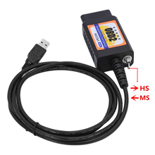 ELM327 MZ327 USB V1.5 modified switch for Ford ELMconfig CH340+25K80 chip HS-CAN / MS-CAN open hidden English & Russian