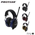 Protear 25dB Электронных Средств Защиты Органов Слуха AM Fm-радио ухо муфты Электронная Уха Защита для Съемки Охота Гарнитуры Слуха