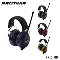 Protear 25dB Electronic Hearing Protector AM FM Radio ear muff Electronic Ear Protection for Shooting Hunting Headset Hearing