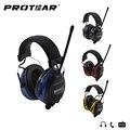 Protetor Auditivo Eletrônico Protear 25dB AM FM Rádio muff da orelha Proteção de Orelha Eletrônico para Tiro Caça Headset Audição