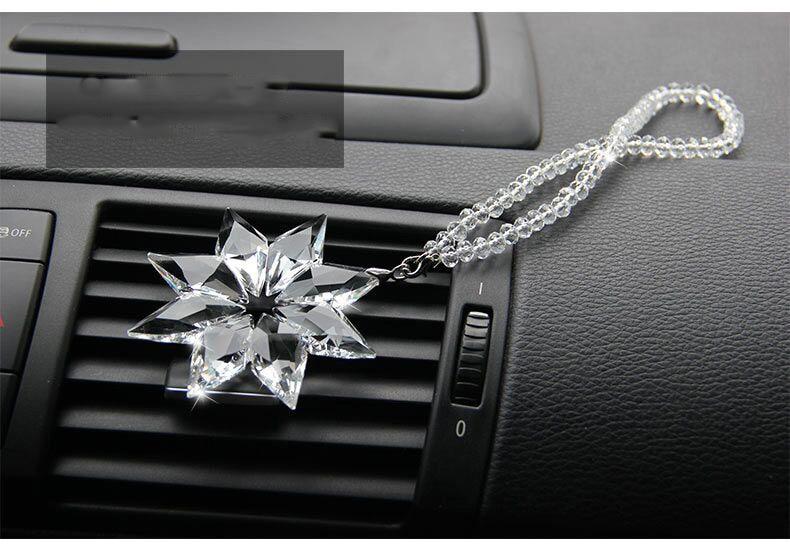 Estilo de coche Exquisito Cristal transparente Grandes Copos de nieve - Accesorios de interior de coche - foto 3