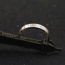 3mm font b Customized b font Wedding Ring Genuine 925 Solid Silver Name Women Ring Personalized