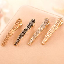 Metal Geometric Hairpin Simple Gifts Hair Accessories Imitiation Pearl Clips Women Jewelry