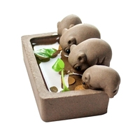 Boutique Purple Clay Tea Pet Piglet drinking water Tea Tray decoration Accessories Gifts Tea table Pig Pet Ceramic Crafts