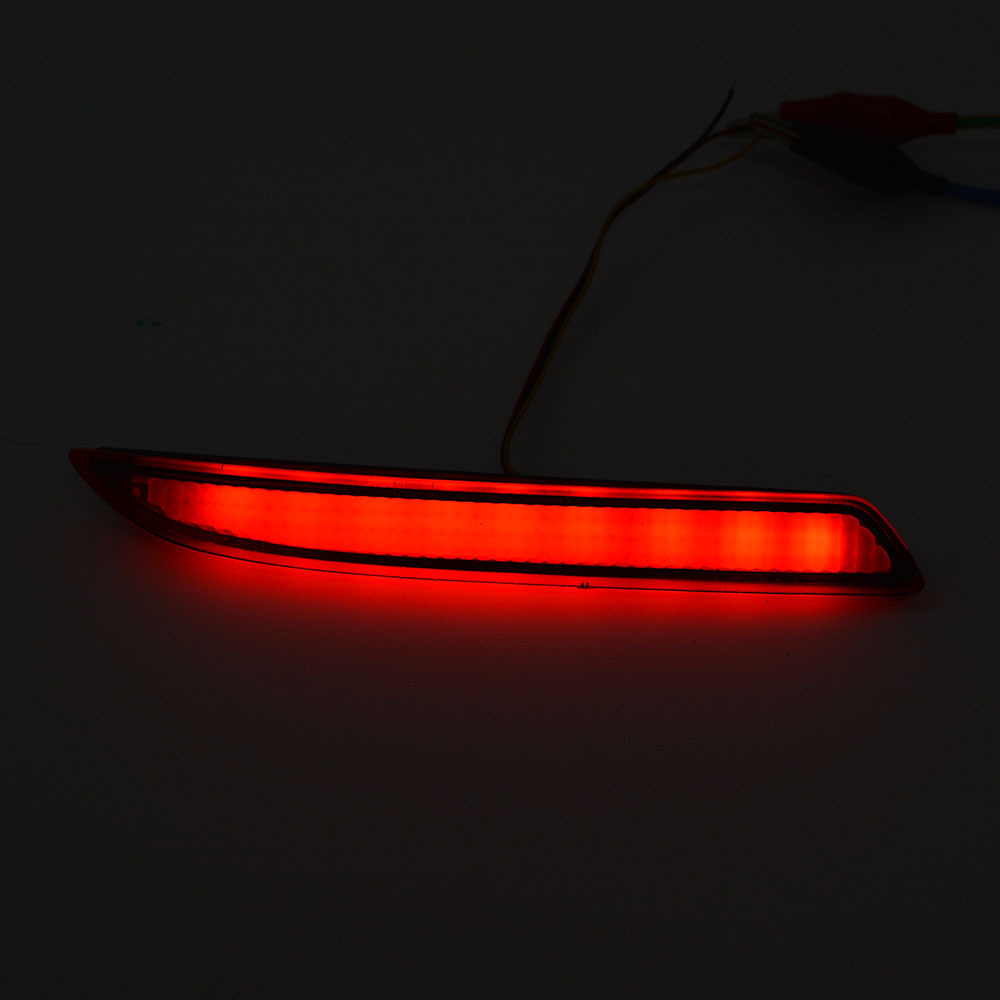 Car Styling Car Rear Bumper Red Led Fog Brake Light Lamp Warning Lights