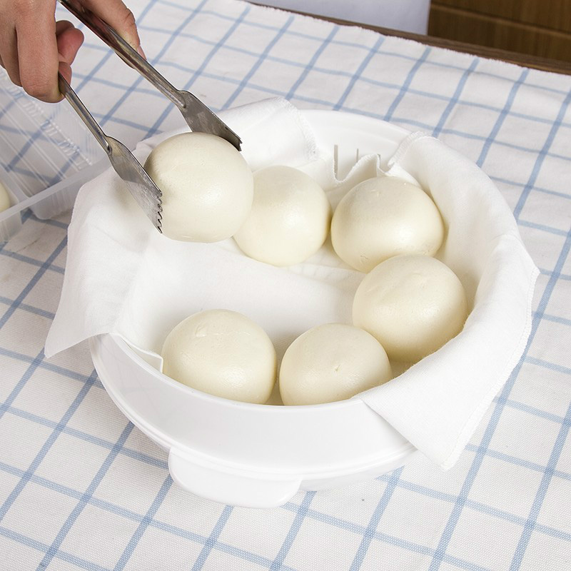 2PCS Household Cotton Non-stick Steamer Mat Round Steamed Cloth Steamed Buns Filter Cloth Kitchen Supplies Home Accessories Tool