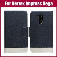Лидер продаж! Vertex Impress Vega чехол, Новое поступление, 5 цветов, модный флип ультра-тонкий кожаный защитный чехол, чехол для телефона