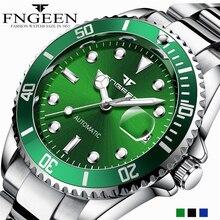 FNGEEN, мужские часы, автоматические механические часы,, Топ бренд, роскошные стальные наручные часы, мужские часы, Tourbillon, Relogio Masculino