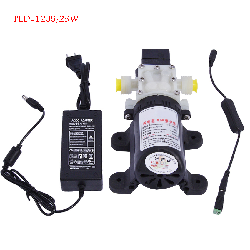 цена Household Water Purifier Booster Pump Self-priming Pump Direct Drink Machine Supercharged Miniature Suction Pump PLD-1205/25W