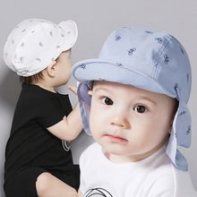 021376273b8 Portable New Print Sun Hat Baby Summer Caps for Children with Soft Brim  Detachable for 6