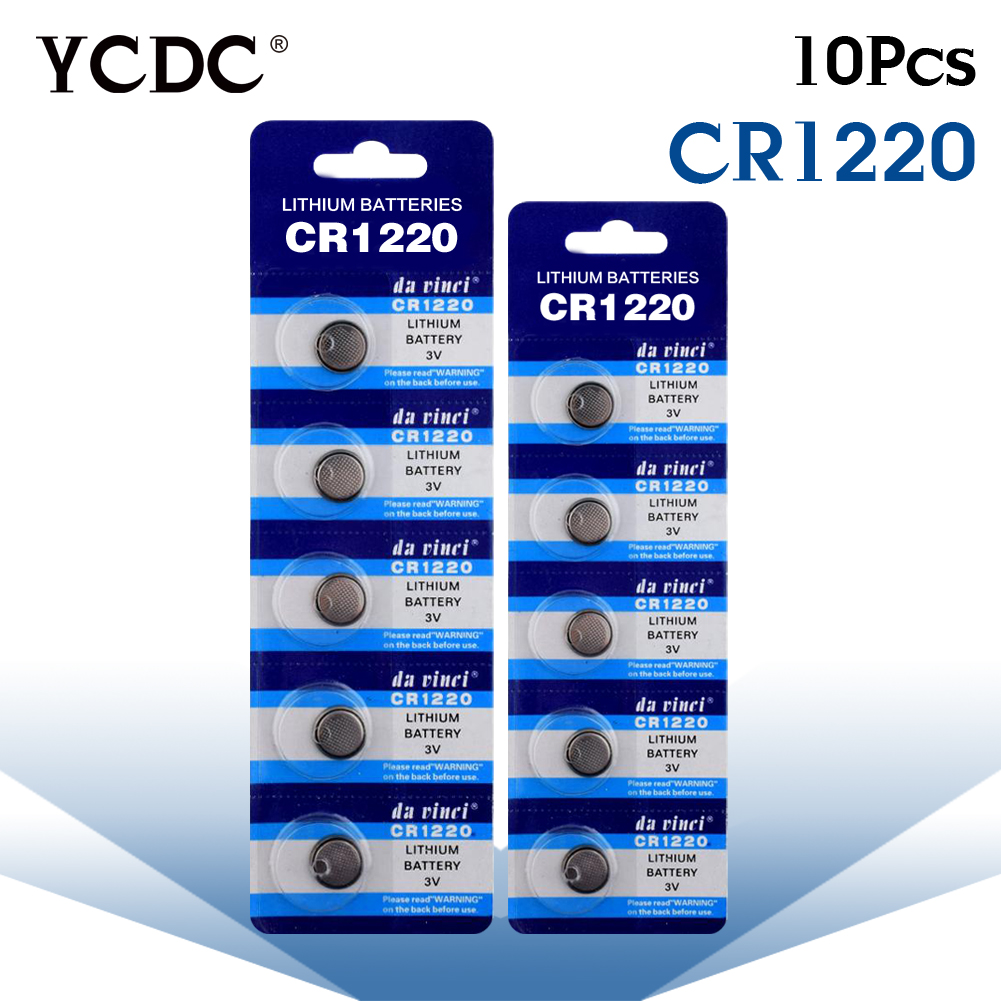 YCDC 10X CR1220 3V CELL BATTERY WATCH BUTTON ECR1220 DL1220 LM1220 KCR1220 COBATTERIES HIGH QUALITY CR 1220 Big Promotion big promotion 100