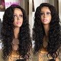 Glueless Полный Шнурок Фигурные Человеческий Волос Парики Virgin Малайзии Вьющиеся полный Парик Шнурка с Волосами Младенца 130% Плотность для Афро-американцы