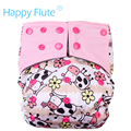 HappyFlute OS AIO&Pocket diaper,with a hemp and charcoal bamboo insert,S M L adjustable,double leaking guards,fit 5-15kg baby