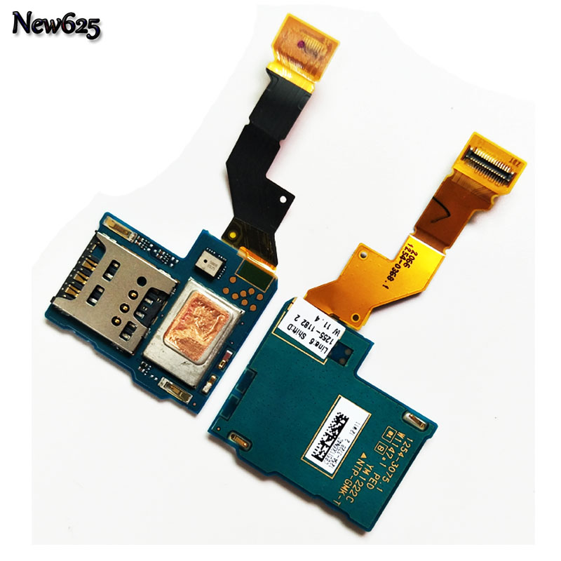 New Sim Card Reader Holder Slot Tray Flex Cable Ribbon For Sony Xperia S LT26 LT26i Replacement Parts
