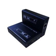 200 M HDMI Extender singolo via cat5e/6, utilizzando H.264 comprimere e decomprimere uno a molti applicazione con Ethernet switch/router