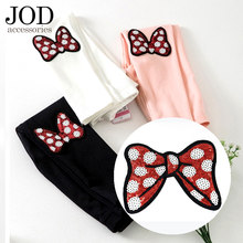 JOD Sequins Embroidered Beads Cloth Patches Iron-on Butterfly Knot Patch Large Ironing Children's Baby Clothes Applique Stickers(China)