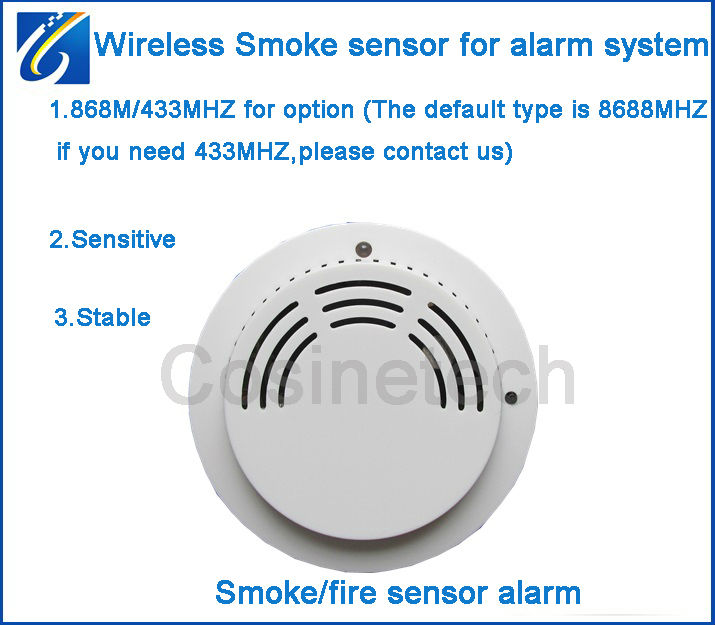 buy wireless 868mhz smoke sensor for our 868mhz home alarm systems fire alarm. Black Bedroom Furniture Sets. Home Design Ideas