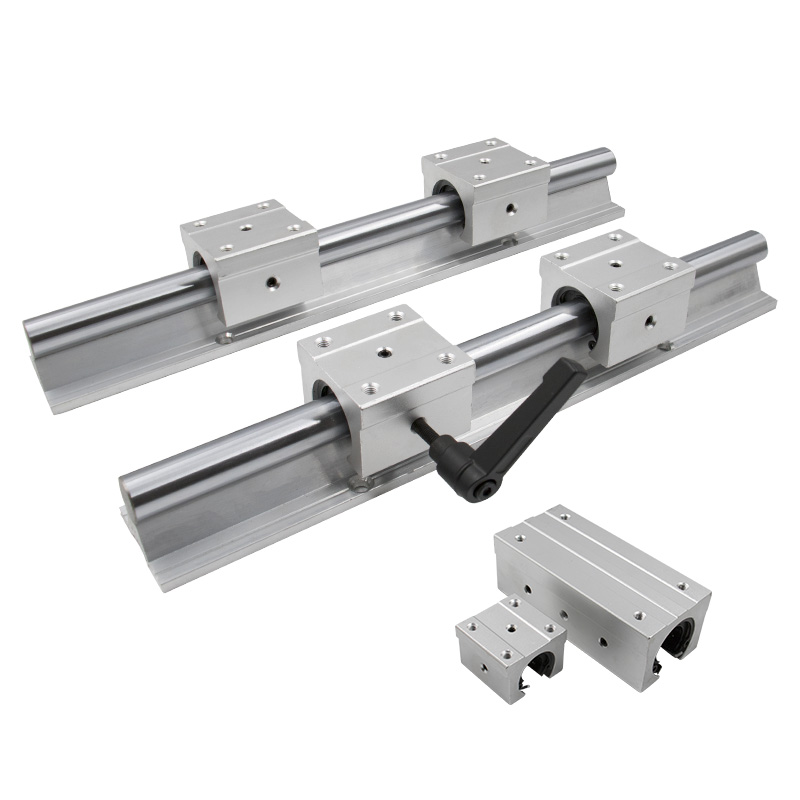 2 set SBR16 16mm 1200mm Fully Supported Linear Rail with SBR16UU Block Bearing