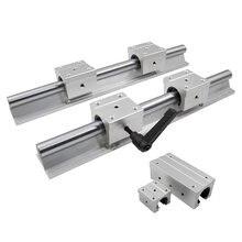 2 szt SBR16 16mm szyna liniowa dowolna długość wsparcie okrągła szyna prowadząca + 4 szt SBR16UU blokujący przesuwanie się do cnc
