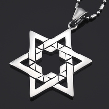ATGO Trendy Hexagram Star Lucky Pendant Necklace For Men Women Stainless Steel Mysterious Magic Jewelry Gift BP023