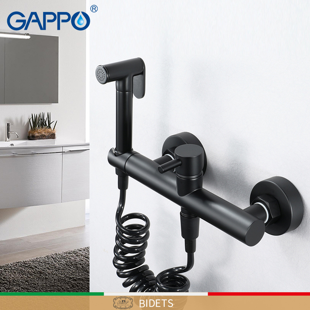 GAPPO Bidets Cold and Hot hygienic shower bidet black muslim shower bidet mixer anal cleaning bidet toilet faucet WC faucets