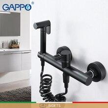 GAPPO bidety zimnej i ciepłej, która pozwala na stosowanie go w strefach aseptycznych, prysznic bidet czarny muzułmański prysznic bidet mikser do czyszczenia analnego bidet toaleta kran WC baterie