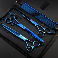Professional 4 Kit 8 Inch Pet Shears Dog Grooming Thinning Haircut Hair Scissors Cutting Barber Tools