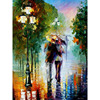 Frameless Romantic Walking DIY Painting By Numbers Abstract Modern Wall Art Picture Hand Painted Oil Painting