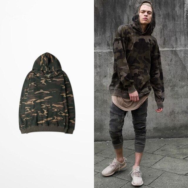 autumn new street hip hop men camouflage hoodies military