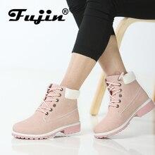 Фуцзинь бренд весна осень зима высокое качество 11,11 ботинки на платформе женские ботильоны резиновые сапоги женские ботинки