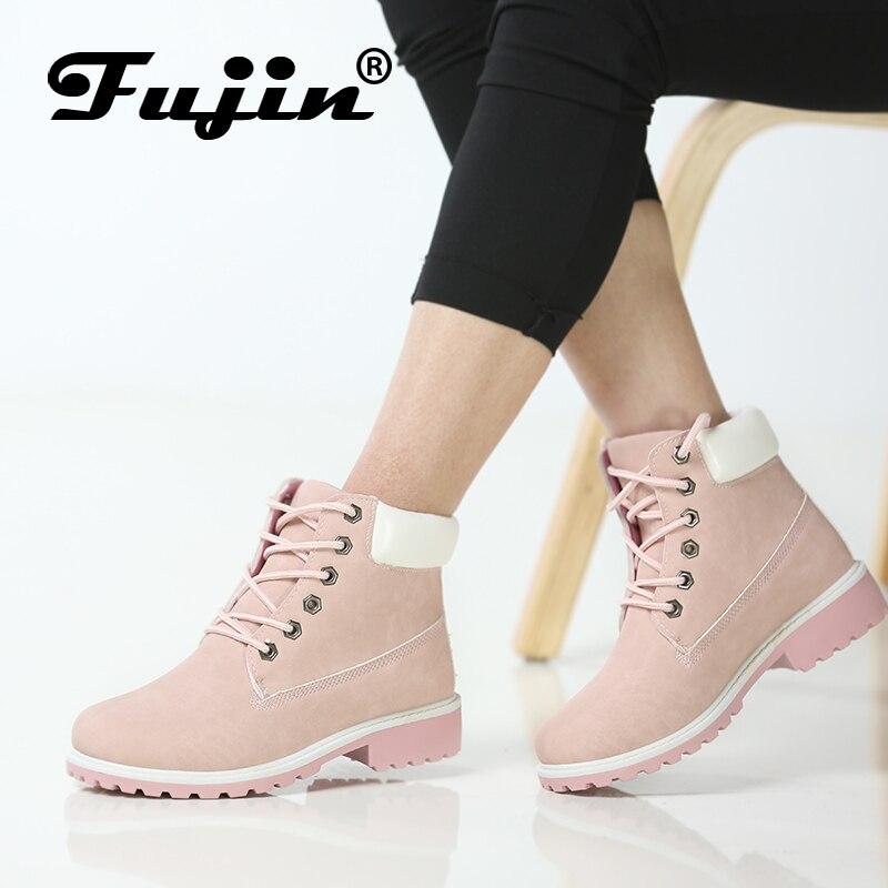 Fujin Marke frühling herbst winter Top Qualität Komfortable Plattform Stiefel Frauen Stiefeletten Gummi Stiefel weibliche dame Botas schuhe
