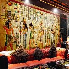 Papel tapiz personalizado De alta calidad moderno De lujo 3D Papel tapiz Mural De pared Papel De pared decoración del hogar murales egipcios Pintado