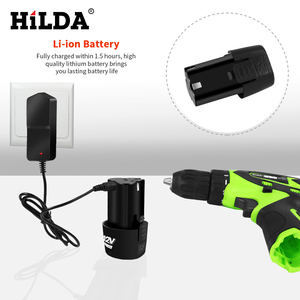 Image 3 - HILDA 12V Electric Screwdriver Lithium Battery Rechargeable Parafusadeira Furadeira Multi function Cordless Electric Drill