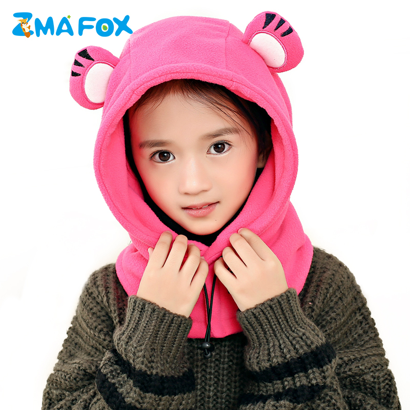 Zmafox Children Kids Winter Hats Coral Velvet Hooded Cap Baby Boy Girls Masked Caps Toddler Balaclava Hat Beanies Ski Mask 2-12y Customers First Boys' Baby Clothing