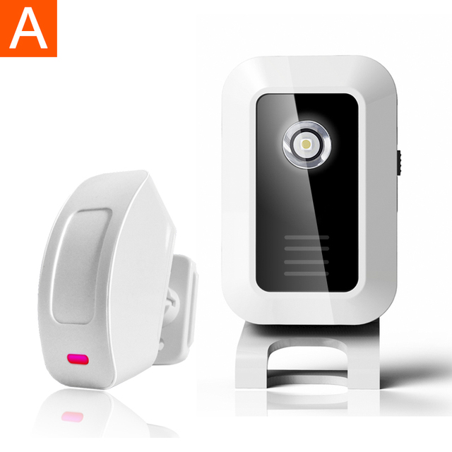 433MHZ Welcome Chime Wireless Device PIR Motion Sensor Bell Alarm Entry Wireless Door Alarm For Home