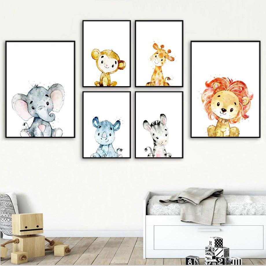 Lion Giraffe Zebra Elephant diy diamond painting Wall Art diamond embroidery Nursery Animal Wall Pictures Baby Kids Room Decor