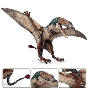 Image 5 - Oenux nowy jurajski drapieżnik mięsożerne otwarte płytki pterodaktyl stałe pcv dinozaur świat Model zwierzęcia Action figurki zabawki dla dzieci
